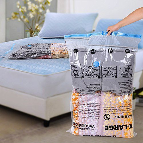 12 Extra Large Space Saving Vacuum Storage Bags Clothes Bedding Organiser Seal
