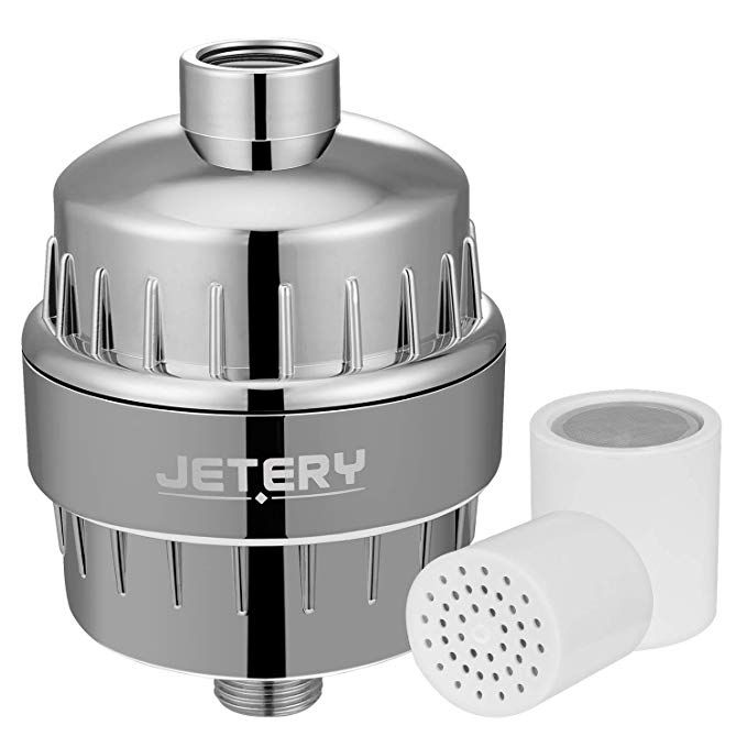 New High Output Universal Shower Filter w// Replaceable 12-Stage Filter Cartridge