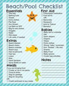 vacation checklist printable