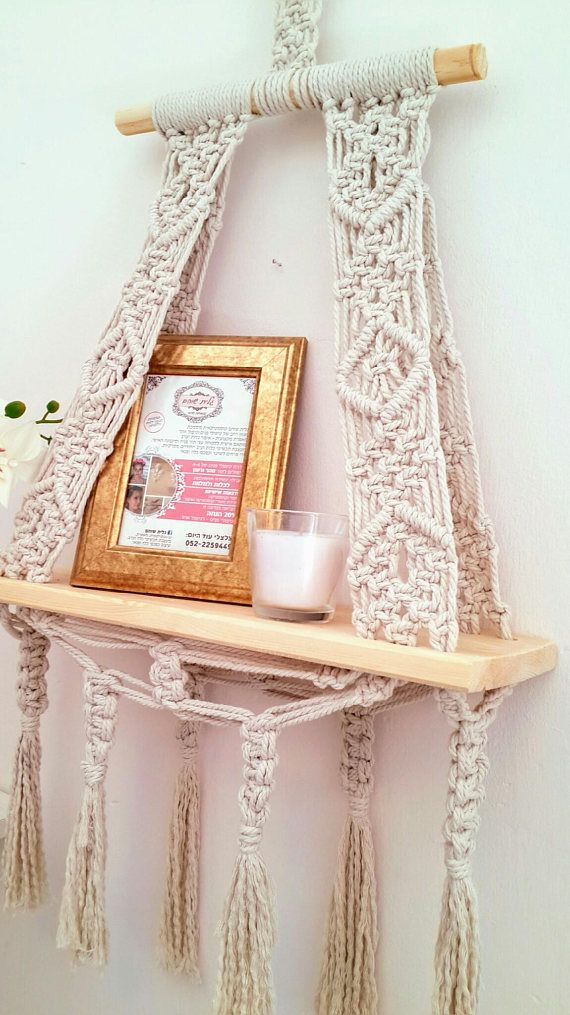 Macrame Wall Hanging Shelf ,Nursery wall Decor, Boho ...