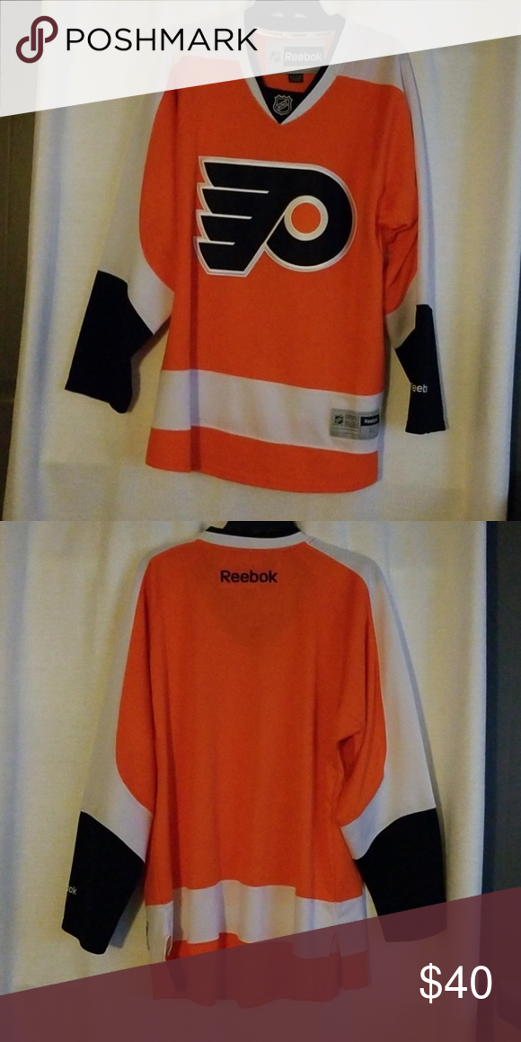 Philadelphia Flyers Jersey Orange, black and white Jersey