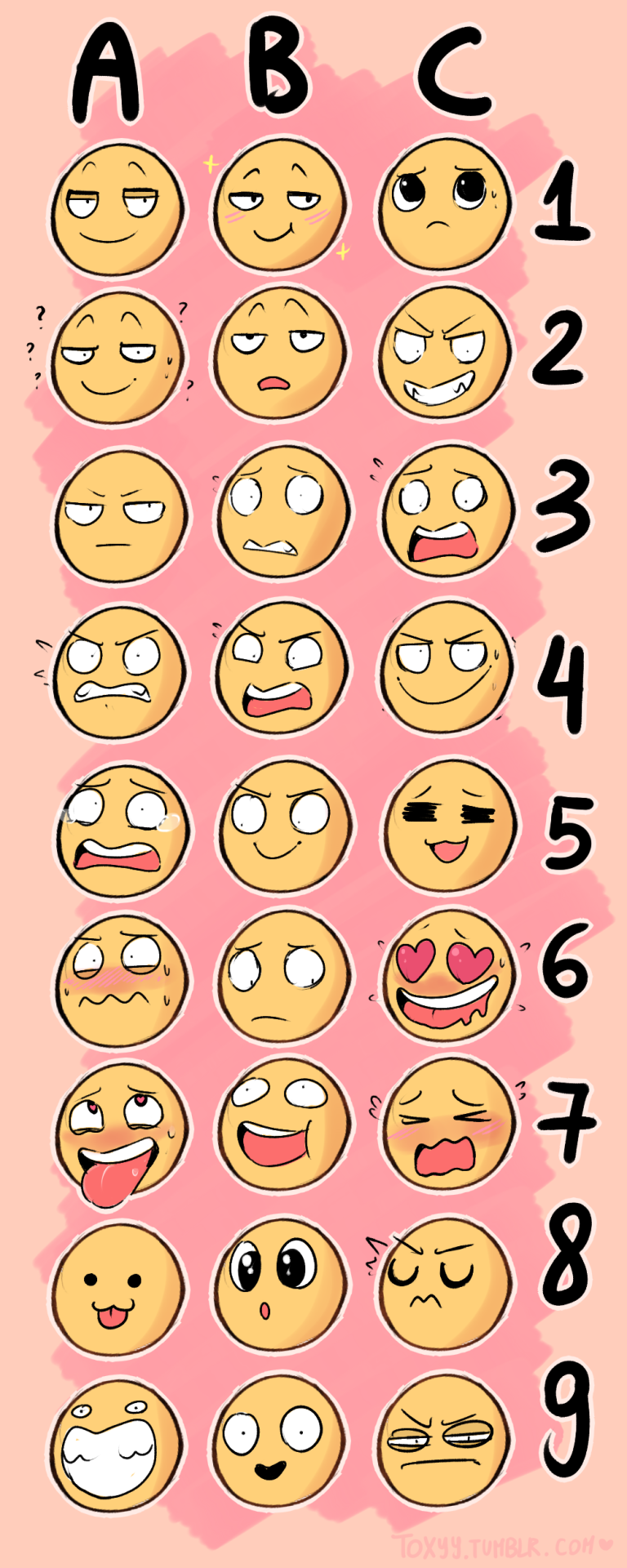 Tumblr Expression Emoji Drawing Challenge 5
