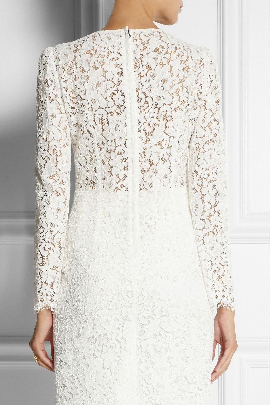 Dolce & Gabbana Cotton-blend lace top NET-A-PORTER.COM