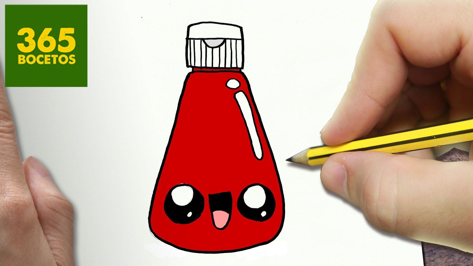 Como Dibujar Ketchup Kawaii Paso A Paso Dibujos Kawaii Faciles