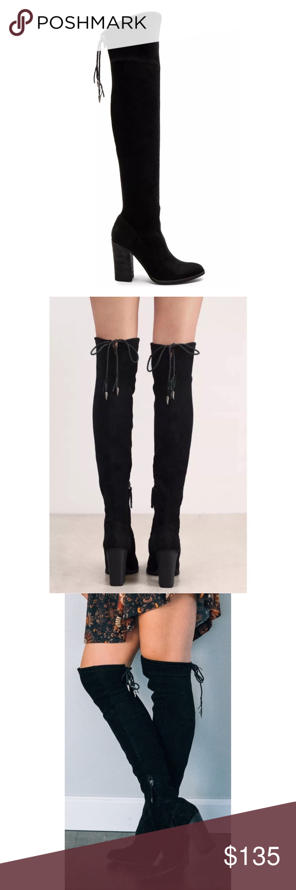 903fd78e610 DV Dolce Vita CHANCE OTK over the knee boots black great condition with  light signs of