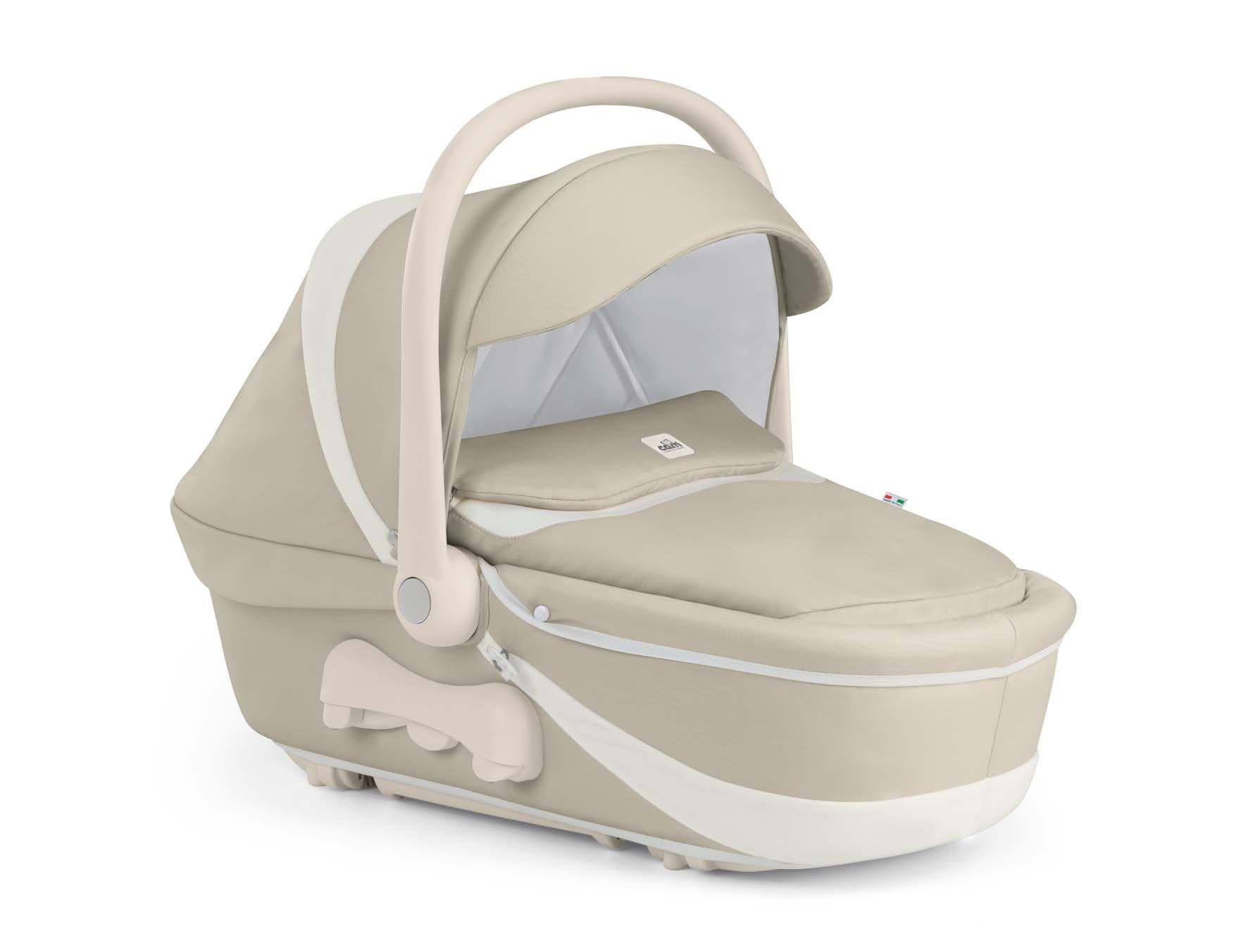 Cam Kinderwagen Fluido Orsibelli light brown-white by CAMSPA Italy für Baby und Kind