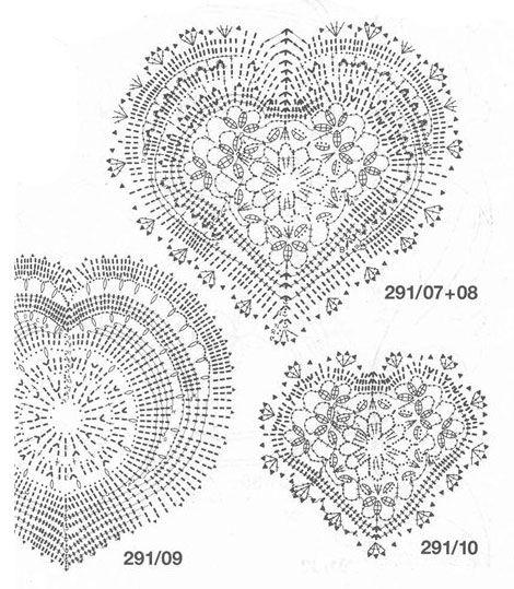 Patrones Crochet Corazones San Valentin - Patrones Crochet   Crochet ...
