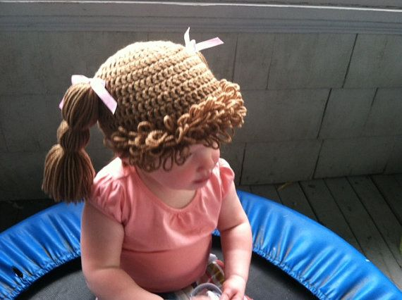 Cabbage Patch Wig  Halloween photo prop by amyscutecreations