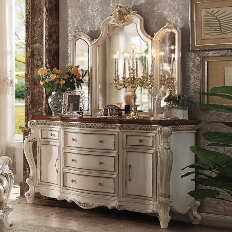 Acme Picardy 26905 Antique Pearl Dresser Classy bedroom