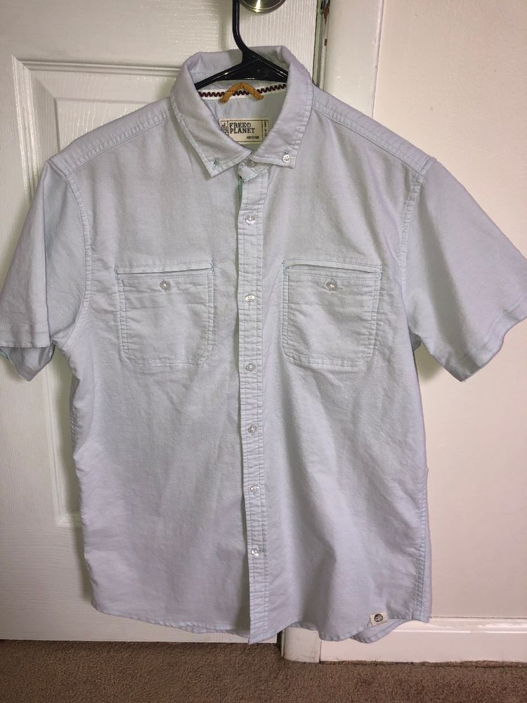 2 Mens Short Sleeve Shirts Free Planet Used Calvin Klein New