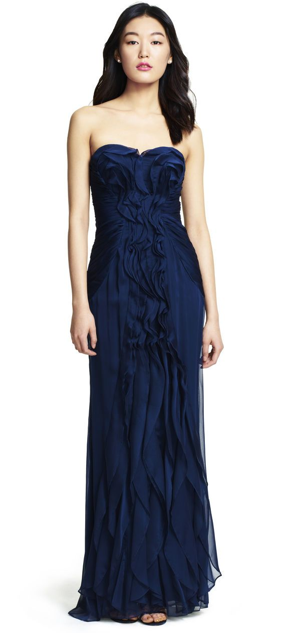 Front Ruffle Gown | Maxi & Gown | Pinterest | Adrianna papell ...