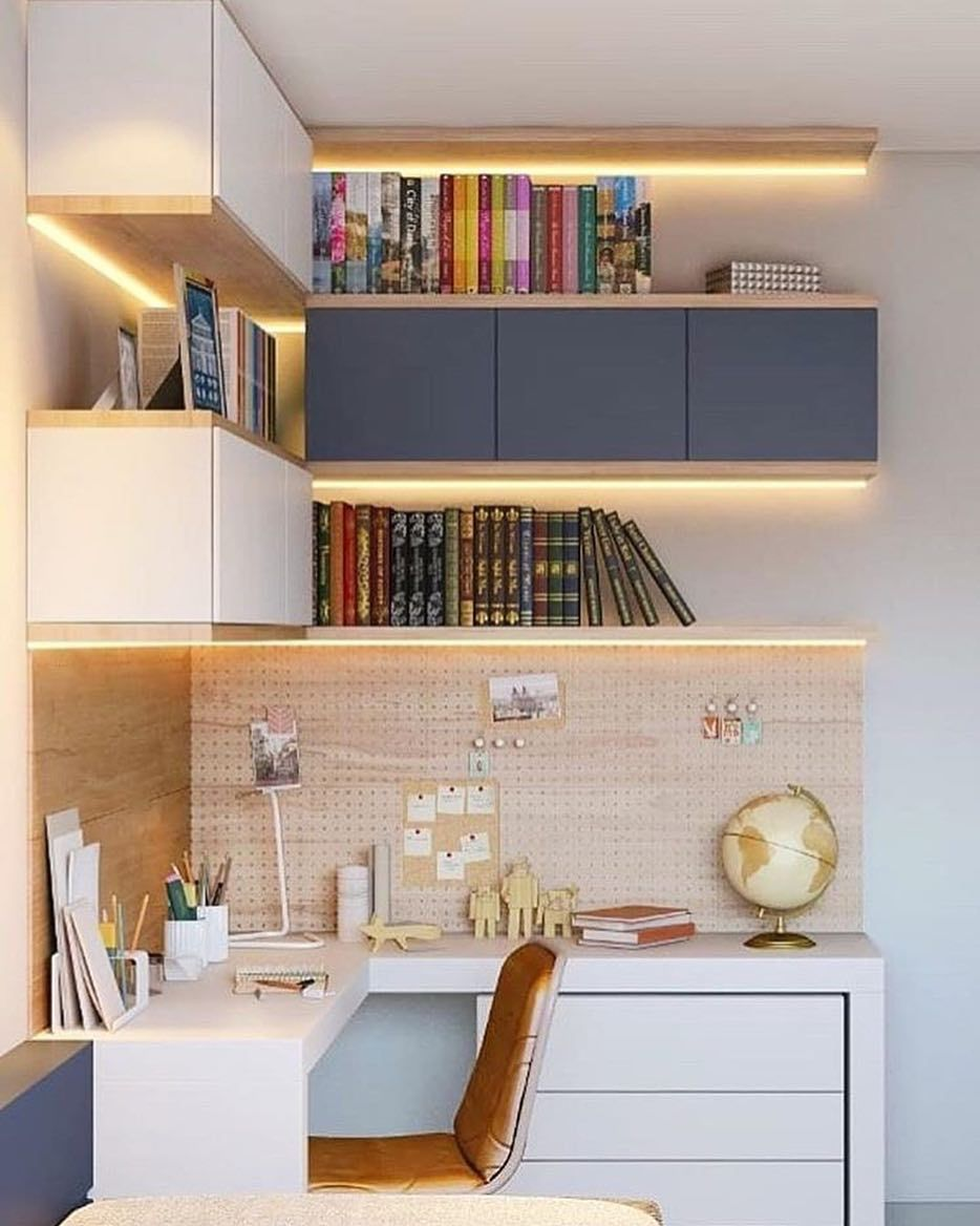 10 Small Home Office Ideas That S Surprisingly Stylish On A Budget Desain Interior Dekorasi Rumah Rumah Barat