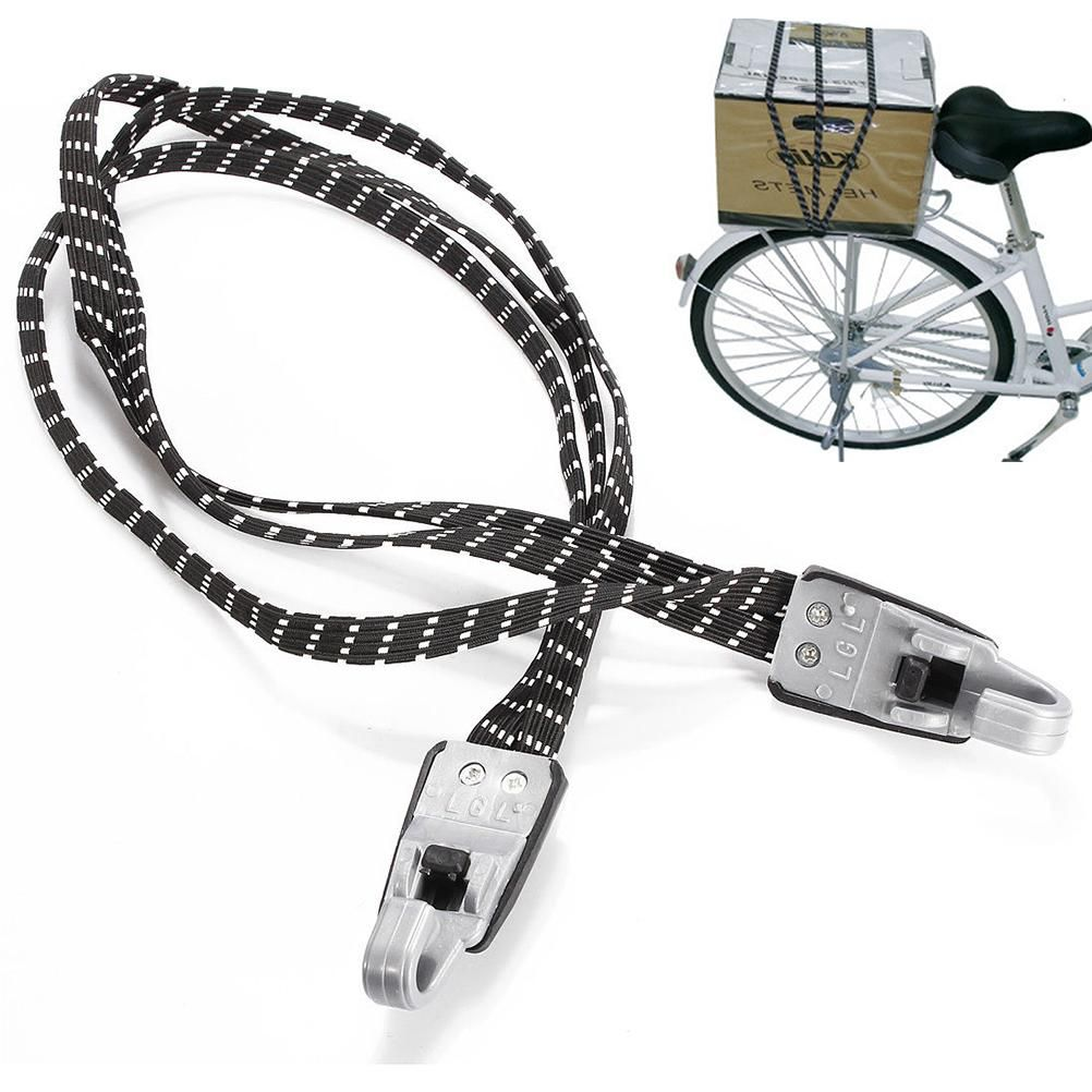 Bicycle Bike Cycling Luggage Rope Bungee Elastic Strap Tie Fixed Band Hook