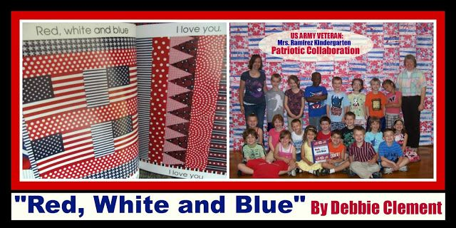 """""""Red, White and Blue"""" Kindergarten Picture Book Response: Collaborative Quilt via RainbowsWithinReach"""
