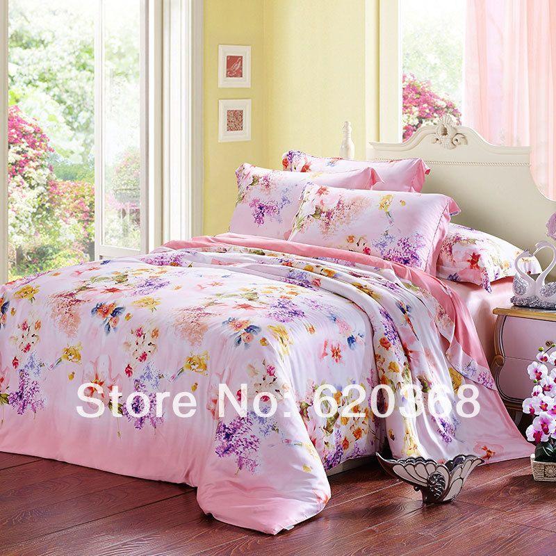Luxury Tencel Printed Bed Bedding Set Duvet Cover Set Bedding Set