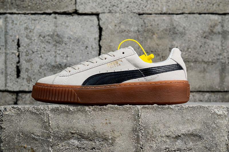 3082161ce2bb94 Newest Puma Suede Platform Core Womens 2018 Spring Summer Skate Sneakers  363559-01 Whisper White blanc Black Noir Youth Big Boys Shoes