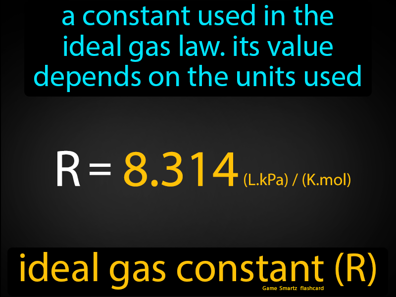 Ideal Gas Constant Easy Science Gas Constant Ideal Gas Law Chemical Changes