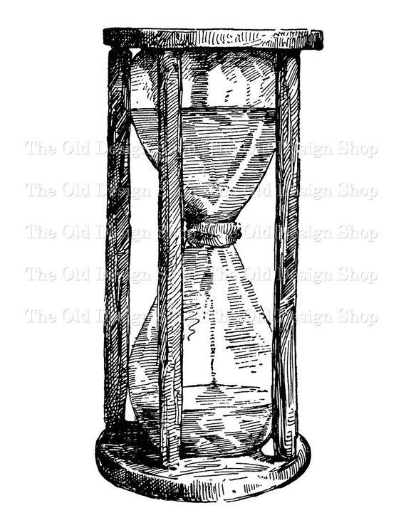 Rustic Vintage Hourglass Commercial Use Clip Art Illustration Digital Stamp Transfer Image Png Jpg Formats In 2021 Illustration Art Vintage Png Vintage Illustration