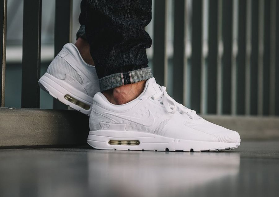 Nike Air Max Zero 0 Essential Blanche 'All White' | Nike air ...