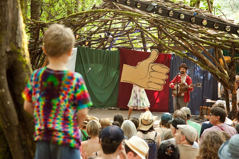 Cardboard songsters pickathon 2014 outdoor stage photo