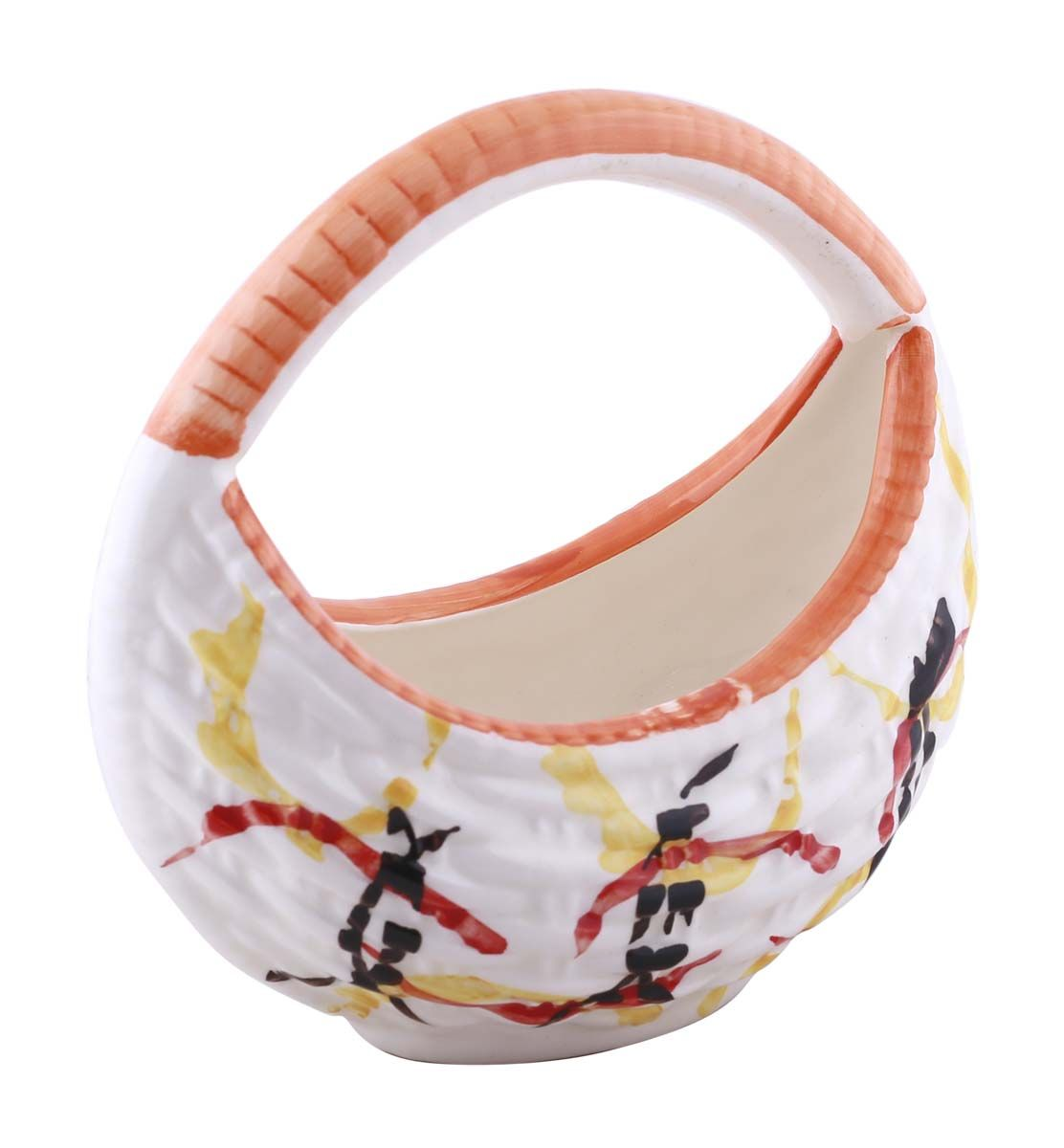 Bulk Wholesale Colorful Handmade Ceramic Basket – Orange Yellow ...