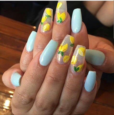 Yellow Acrylic Nails Round Pressons Yellow Lemon Stiletto Fake Nails Almond Claws Press On Glue On Full T Acrylic Nails Yellow Yellow Nails Design Yellow Nails