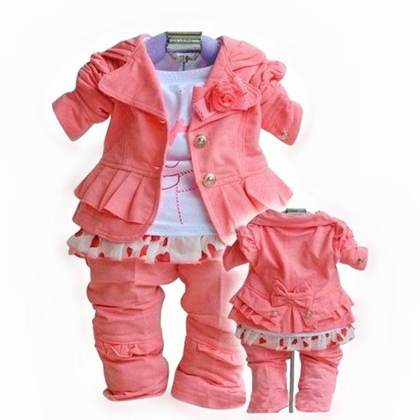 Hottest Baby Clothes Hot Pink Girls Clothing Kids Clothes