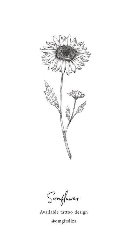 Tattoo Small Sunflower Design 65+ Ideas #tattoo (With