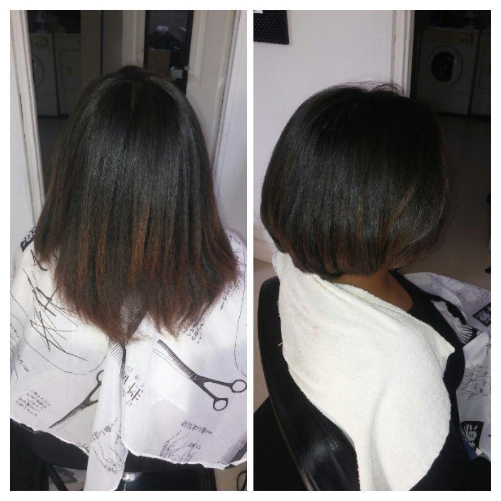 antes y despues nuevo cote de pelo