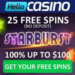 Hello Casino Free Spins No Deposit Bonus 25 Free Spins Casino Free Slots Casino Deposit