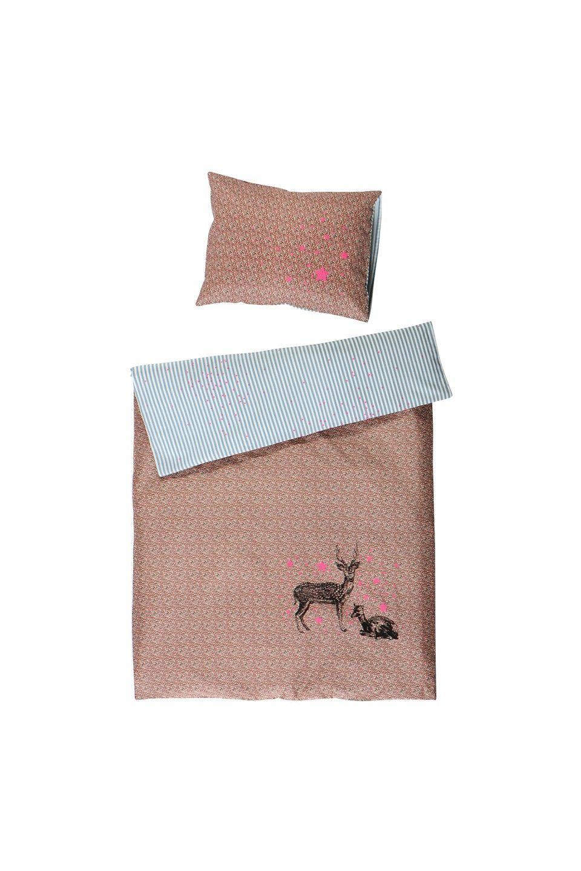 La Cerise Sur Le Gateau Duvet Cover Bambis liberty Pink