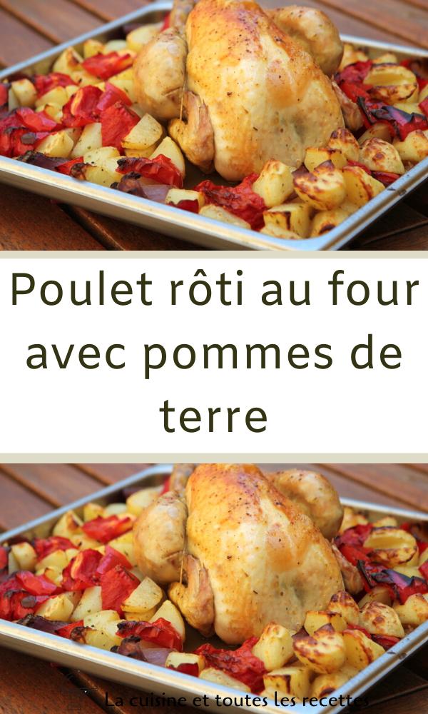 Poulet Roti Au Four Pomme De Terre Epingle Sur Idees Pour La Maison
