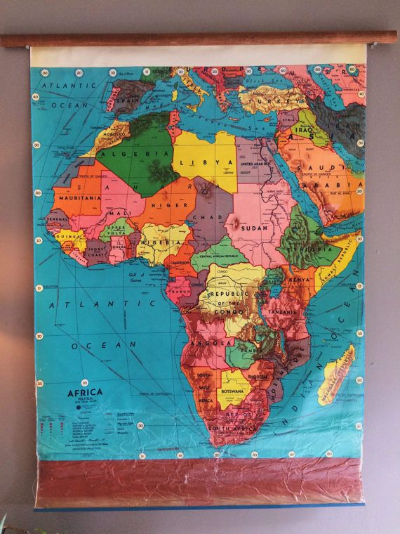 Pull down map of africa world map hanging wall map roll up wall map pull down map of africa hanging wall map roll up by flickerandsway gumiabroncs Images