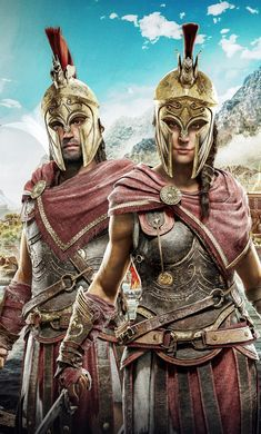 Assassin S Creed Odyssey Alexios Kassandra Art