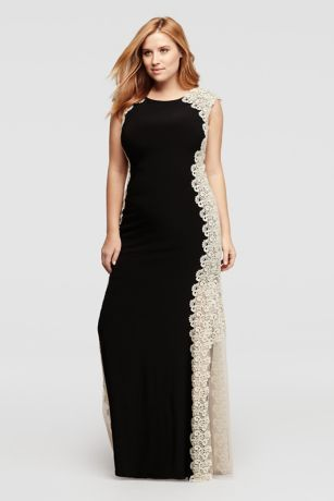 Long Cap Sleeved Dress With Glitter Chemical Lace Style Xs7636w
