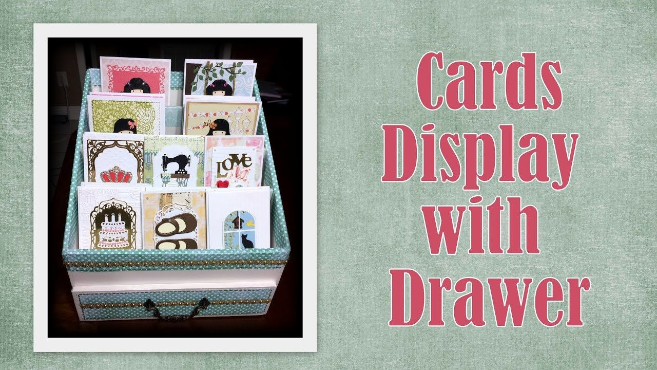 RECYCLE IDEAS: CARDS DISPLAY WITH DRAWER
