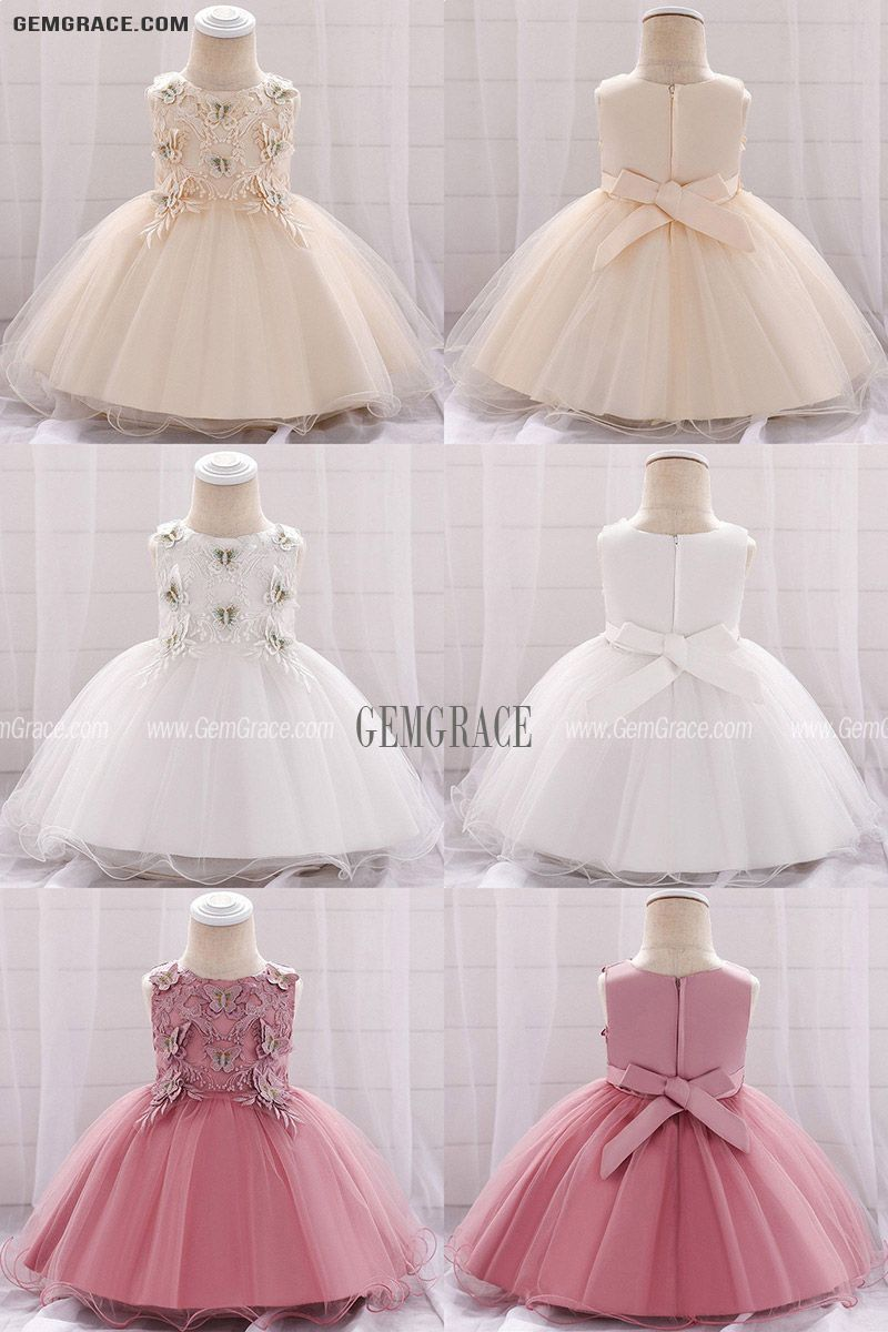 White Butterfly Baby Girl Wedding Dress For 20 20 20 Months in 20 ...