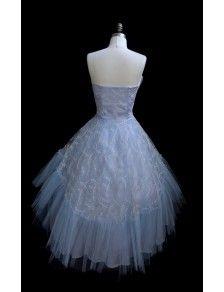 Vestido de tul azul bebe 1950