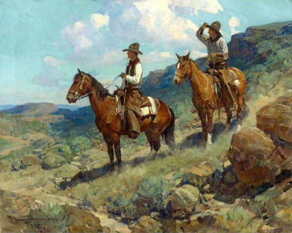 'Texas Cowboys' by Frank Tenney Johnson