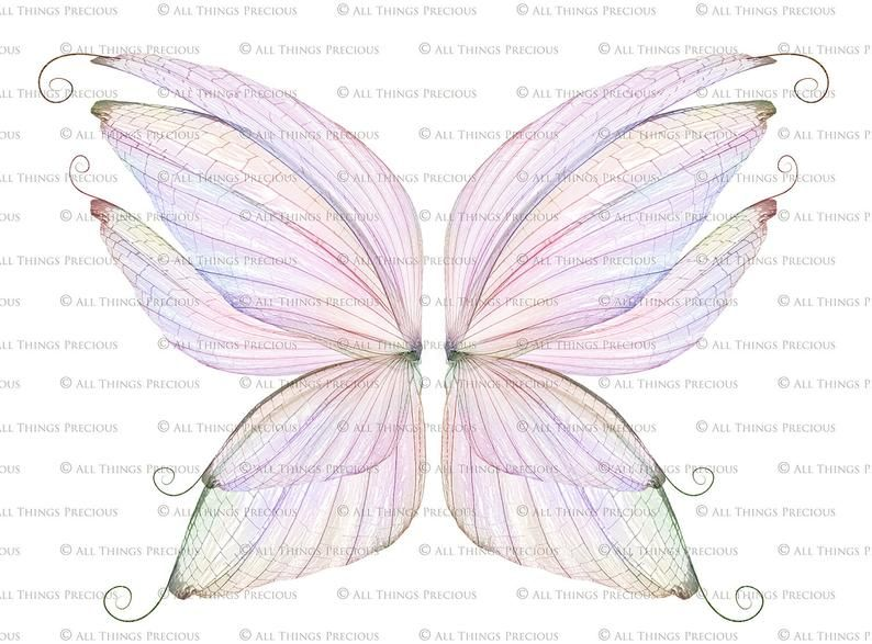 Overlays 20 Transparent Png Fairy Wings Set 11 Digital Overlay Photo Editing Photography Photoshop Clipart Fairy Wing Overlays Digital Overlays Photoshop