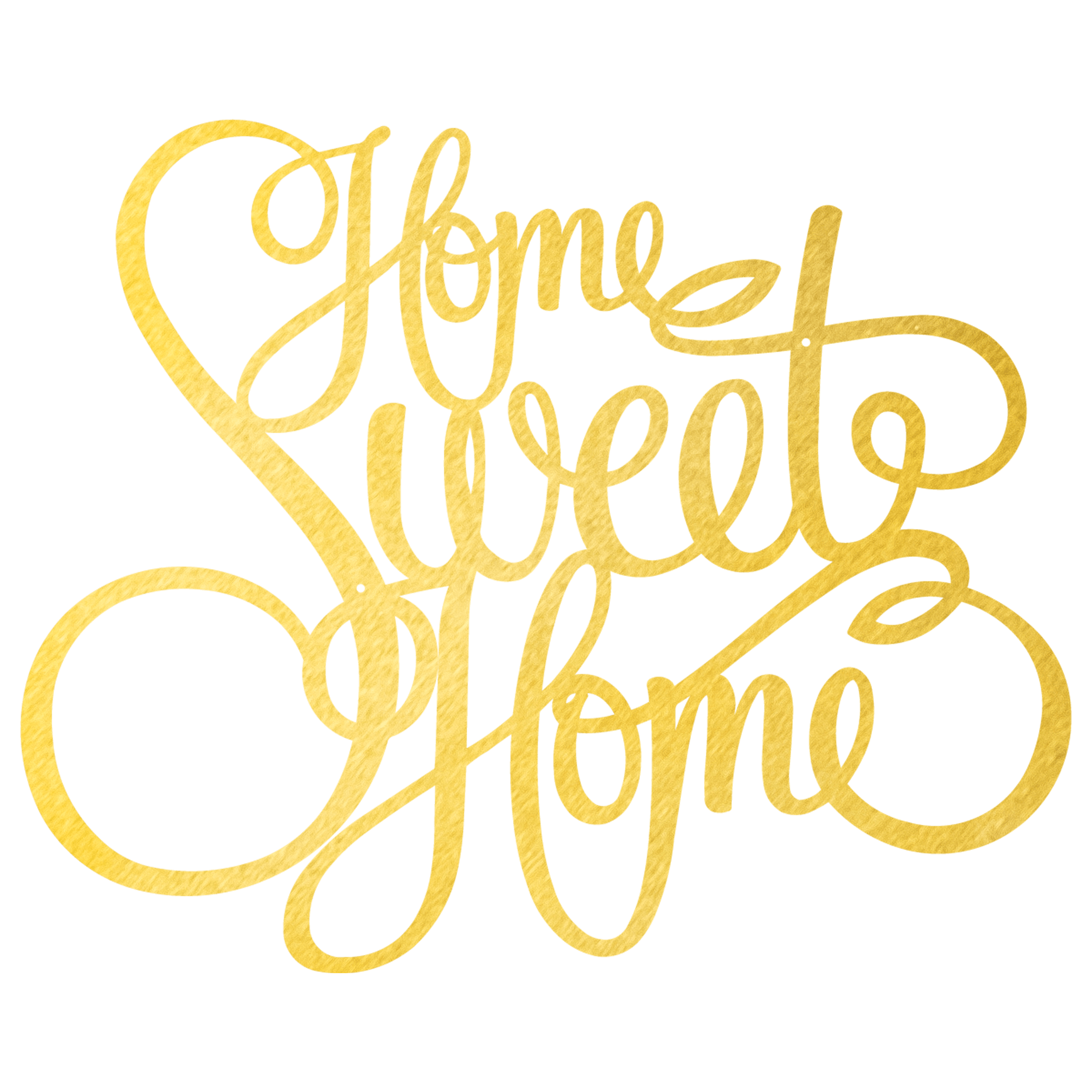 Home Sweet Home Wall Décor - Gold / 18\