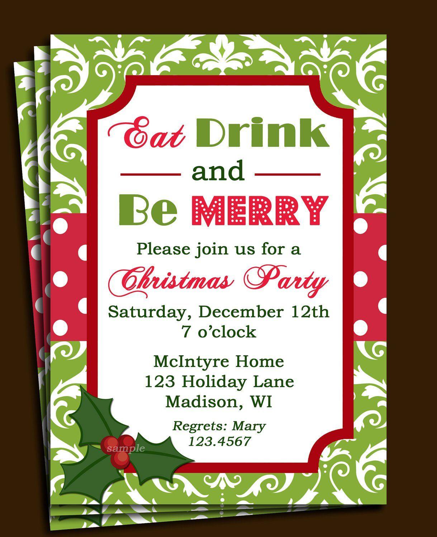 Free Christmas Invitations Printable Template Party Templates Cimvitation  Invitation Holiday. Invitation Letter Sample With Rsvp Party Invitations