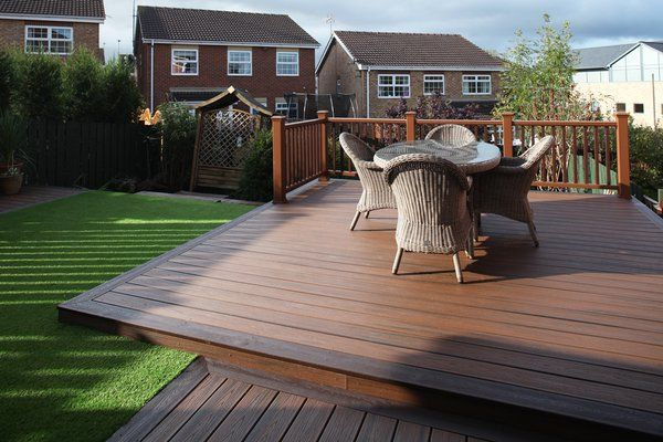 This look can also be achieved using millboard wood alternative