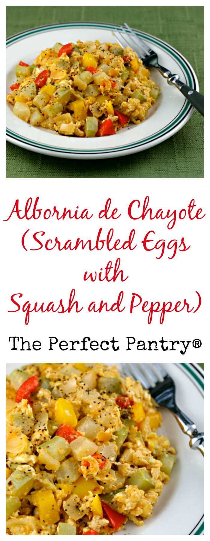 Eggs (Recipe: albornia de chayote) {vegetarian} #chayoterecipes