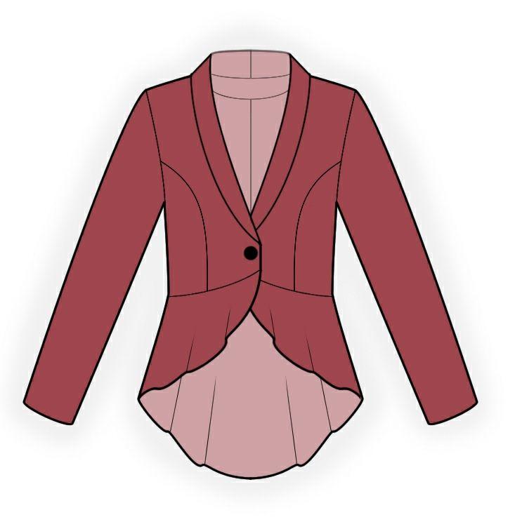 Chaqueta - Patrón de costura #4304 Patrón de costura a medida de ...