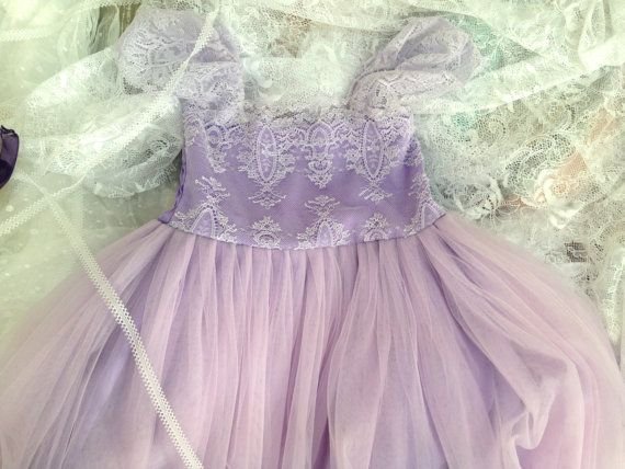 a118723bc Lavender Lilac Flower Girl Dress Tulle Dress for Baby Girl Girls ...