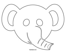 Epic image regarding elephant mask printable