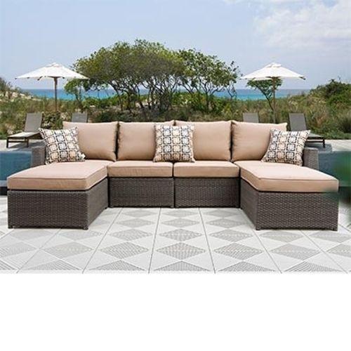 Hampton 6 Piece Patio Deep Seating Sectional By Sirio™