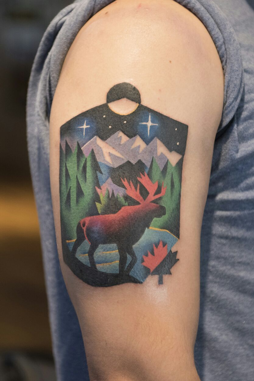 My Canada tattoo by David Cote in Montreal Canadian