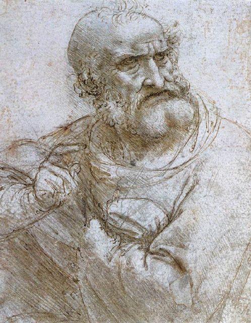 leonardo da vinci prima idea per la figura del apostolo pietro per
